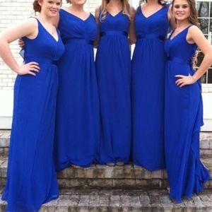 Horizon Blue Chiffon Dress